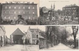 4 CPA:BAIN DE BRETAGNE (35) LA COMMUNAUTÉ,DOCKS DE L'OUEST LES HALLES,ÉGLISE,ANCIENNE ROUTE DE NANTES PROMENADE - Francia