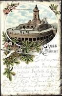Lithographie Sondershausen Im Kyffhäuserkreis Thüringen, Kyffhäuser, Kaiser Wilhelm Denkmal - Deutschland