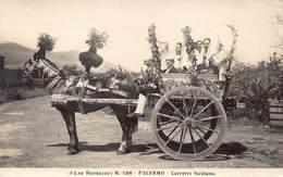 Italia Palermo Ed Ne Randazzo Caretto Siciliano Photo Card M 1466 - Palermo