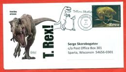 USA 2019. FDC Envelope Past Mail. - Prehistorics