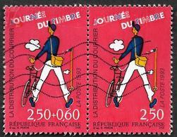 FRANCE  1993  - YT  P2793A - La Paire Se Tenant - Journée  Du Timbre - Oblitérés - France