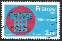 FRANCE  1981  -   Y&T  2130  -  Telematique  -  Oblitéré - France