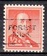 USA Precancel Vorausentwertung Preo, Locals Mississippi, Forest 701 - Estados Unidos