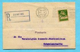 Postkarte Gebrüder Sulzer Winterthur 1923 - Perfin G.S. - Perforés
