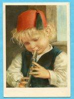 Pro Juventutekarte Nr. 244 - Spiel Auf Der Klarinette Mit Pro Juventutefrankatur - Pro Juventute