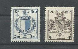 FRANCIA  YVERT   734/35   MNH  ** - 1941-66 Armoiries Et Blasons