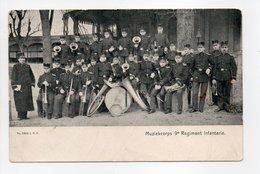 - CPA MILITAIRES - Muziekcorps 9e Regiment Infanterie (belle Animation Avec La Fanfare) - Photo L. R. V. 2892 - - Reggimenti