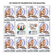 Sierra Leone. 2019 150th Anniversary Of Mahatma Gandhi.  (1016c) OFFICIAL ISSUE - Mahatma Gandhi