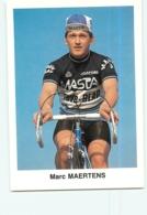 Marc MAERTENS  . 2 Scans. Masta Teve Blad 1983 - Cyclisme