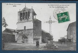 ST CHRISTOPHE SUR DOLAISON - La Place De L'Eglise - Other Municipalities