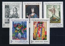 1966 Czechoslovakia MNH - Mi 1668-1672 Yv 1530-1534 ** MNH ART-Painting - Czechoslovakia