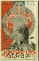 SERBIA - PATRIOTIC POSTCARD - 1910s - TEMPUS ET MEUS JUS - EDIT GINO MATTEUCCI (BG6520) - Heimat