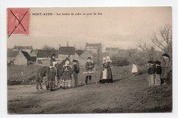 - CPA PONT-AVEN (29) - Les Bolées De Cidre Un Jour De Fête (belle Animation) - Collection H. L. M. - - Pont Aven