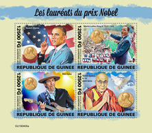 Guinea. 2019 Nobel Prize Winners.  (0405a) OFFICIAL ISSUE - Nobel Prize Laureates