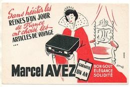 Buvard Articles De Voyage Marcel Avez Bon Goût élégance Solidité - Buvards, Protège-cahiers Illustrés