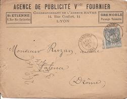 ISERE SAGE Sur  ENV  OBLI  GRENOBLE Pour VALENCE - Marcophilie (Lettres)