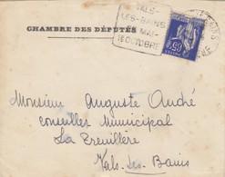 LETTRE. DAGUIN VALS LES BAINS ARDECHE CHAMBRE DES DEPUTES - Postmark Collection (Covers)