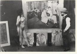 19/ 12 / 86. -  TOULOUSE  - LAUTREC  DANS. SON. ATELIER  VERS  1894.  -  C P M - Pittura & Quadri