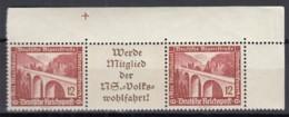 DR W 114, Postfrisch**, Eckrand Mit Passertkreuz, WHW: Moderne Bauten 1936 - Se-Tenant