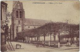 77  Fontenailles L'eglise Et La Place - Frankreich