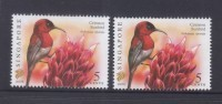 Singapore 2007 Birds Definitives 5c-2007B, 5c-2007C Imprints 2v MNH - Singapore (1959-...)