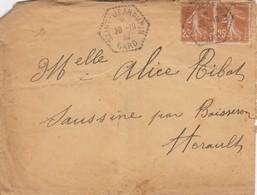 LETTRE. AGENCE POSTALE ST JEANDUPIN GARD - Poststempel (Briefe)