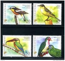 """Singapore 2007 Birds Definitives 20c, 45c, 50c & 80c With Imprint """"2007E"""" 4v MNH - Singapore (1959-...)"""