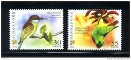 Singapore 2007 Birds Definitives 30c-2007C, 55c-2007C Imprints 2v MNH - Singapore (1959-...)