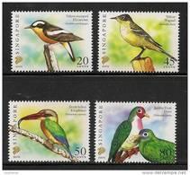 "Singapore 2007 Birds Definitives 20c, 45c, 50c & 80c With Imprint ""2007G"" 4v MNH - Singapore (1959-...)"