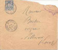 SEINE ET OISE  SAGE  Sur  ENV OBLI  ST VRAIN  (PERLE) - Marcophilie (Lettres)