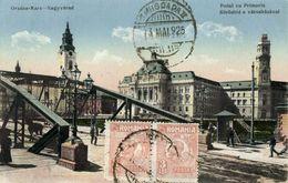 Romania, ORADEA MARE, Podul Cu Primaria, Bridge With Town Hall (1925) Postcard - Roemenië