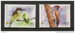 Singapore 2007 Birds Definitives 30c-2007D, 65c-2007E Imprints 2v MNH - Singapore (1959-...)