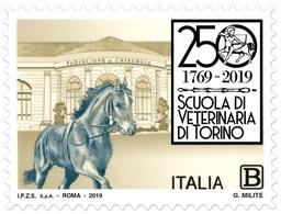 Italia Repubblica 2019 Facoltà Di Medicina Veterinaria Di Torino Euro 1,10 MNH** Integro - 6. 1946-.. República
