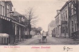 3575335Aalsmeer,  Dorpstraat Met Bord Sport Hotel En ''De Meerbode '' Stoomdrukkerij. (poststempel 1907) - Aalsmeer