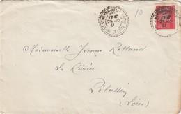 LETTRE. RECETTE-DISTRIBUTION. SAONE ET LOIRE ST MARTIN-BELLE-ROCHE - Marcophilie (Lettres)