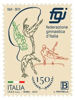 Italia Repubblica 2019 Federazione Ginnastica D'Italia  Euro 1,10 MNH** Integro - 6. 1946-.. República