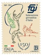 Italia Repubblica 2019 Federazione Ginnastica D'Italia Euro 1,10 MNH** Integro - Gymnastik