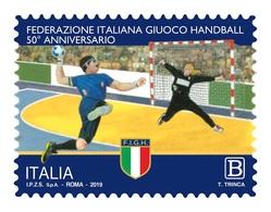 Italia Repubblica 2019 Federazione Italiana Giuoco Handball Euro 1,10 MNH** Integro - 6. 1946-.. República