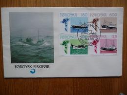 (2) FOROYAR Faroe Islands 1977 Ships FDC Cover - Färöer