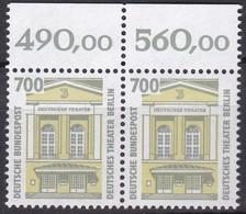 BRD, 1993, Nr. 1691 ** Sehenswürdigkeiten (XVI) Oberrand-Paar - Nuovi