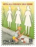 Italia Repubblica 2019 Lotta Alla Violenza Sulle Donne Euro 1,10 MNH** Integro - 6. 1946-.. República