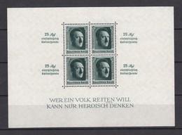 Deutsches Reich - 1937 - Michel Nr. Block 11 - BPP Signiert - Germany