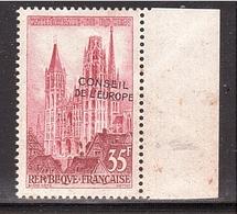 VARIÉTÉ Service Strasbourg 1958 Surcharge Déplacée, Signé Roumet. Non Coté ! - Variétés: 1950-59 Neufs