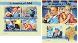 Guinee 2019 Nobel Peace Prize Obama Dalai Lama Martin Luther Bob Dylan MS+S/S GU190405a - Célébrités