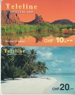 SWITZERLAND - PHONE CARD - TAXCARD ***   PRÉPAID  2 X TELELINE  *** - Suisse