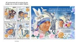 Niger 2019 Mother Teresa Nobel Peace Prize 40th Aniv MS+S/S NIG190504 - Célébrités