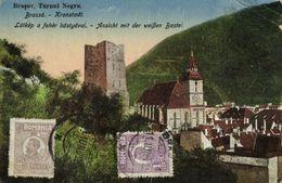 Romania, BRAȘOV KRONSTADT, Turnul Negru (1925) Postcard - Roemenië