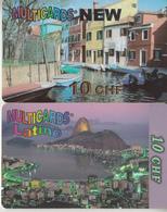 SWITZERLAND - PHONE CARD - TAXCARD ***   PRÉPAID  2 X MUTICARDS 1  *** - Schweiz