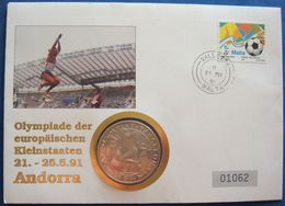 Gibraltar 1 Crown 1991 UNC PROOF In Letter, Rare - Barcelona - Gibraltar