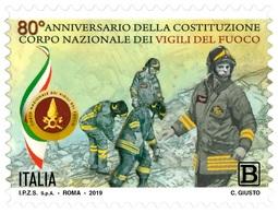 Italia Repubblica 2019 Corpo Nazionale Dei Vigili Del Fuoco Euro 1,10 MNH** Integro - 6. 1946-.. República